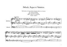 Prelude, Fugue et Variation: For organ by César Franck