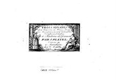 Three Sonatas for Piano (or Harpsichord), Violin and Cello, Op.52: Three Sonatas for Piano (or Harpsichord), Violin and Cello by Ignaz Pleyel