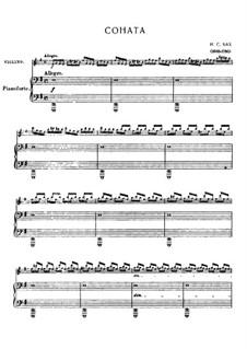 Sonata for Violin and Basso Continuo in E Minor, BWV 1023: Arrangement for violin and piano by Johann Sebastian Bach