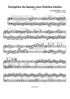 Comptine du bateau sous fraîches étoiles (No.7): Comptine du bateau sous fraîches étoiles (No.7) by Jeremiah Oliver