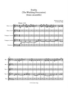 Svatba (The Wedding Procession): For brass ensemble by folklore