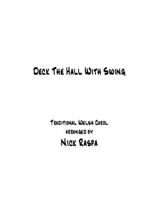 Deck the Hall with Swing: For early intermediate piano by folklore