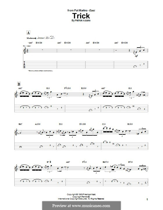 Trick: For guitar with tab by Patrick Azzara