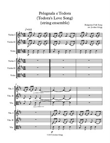 Polegnala e Todora (Todora's Love Song): For string ensemble by folklore