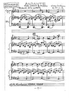 Andante per Corno e Piano, Op.101 No.2: Andante per Corno e Piano by Alexey Kurbanov