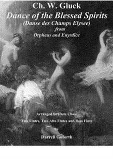 Dance of the Blessed Spirits: For flute choir by Christoph Willibald Gluck