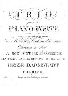 Piano Trio in D Minor: Piano Trio in D Minor by Christian Heinrich Rinck