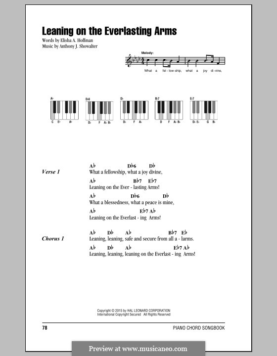 Leaning on the Everlasting Arms: Lyrics and chords by Anthony J. Showalter