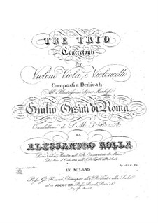 Three Concert Trios for Strings, BI 410, 405, 397: Three Concert Trios for Strings by Alessandro Rolla