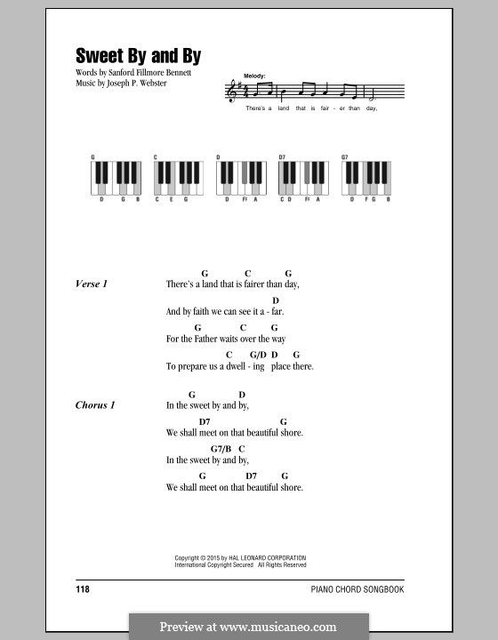Sweet By And By By Jp Webster Sheet Music On Musicaneo