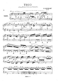 Trio for Piano and Two Flutes, Op.119: Piano part by Friedrich Kuhlau