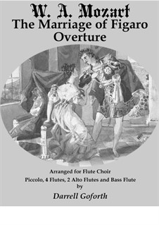 Overture: For flute choir by Wolfgang Amadeus Mozart