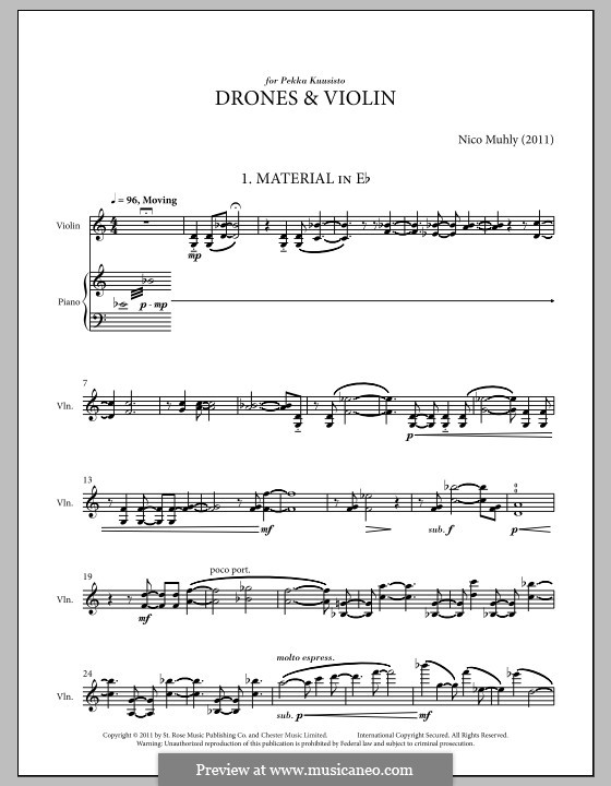 Drones and Violin: Drones and Violin by Nico Muhly
