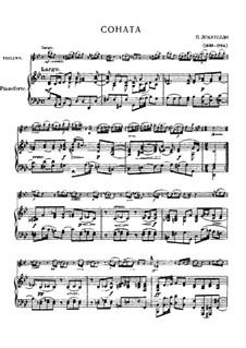 Sonata da camera for Violin and Basso Continuo: Arrangement for violin and piano by Pietro Locatelli