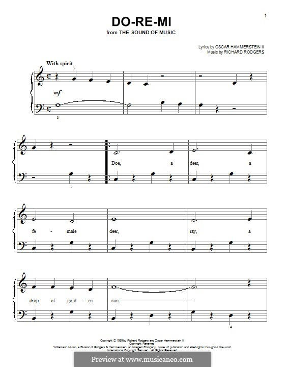 Do-Re-Mi (from The Sound of Music): For piano by Richard Rodgers