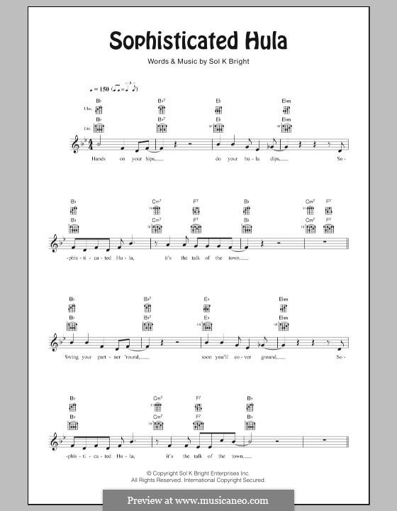 Sophisticated Hula: For ukulele by Solomon Kekipi Bright