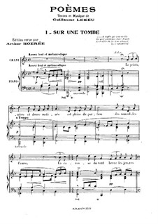 Three Poems for Voice and Piano: Complete set by Guillaume Lekeu