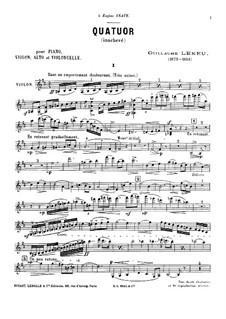 Piano Quartet in B Minor: Full score, parts by Guillaume Lekeu