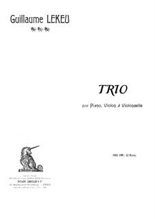 Piano Trio in C Minor: Full score by Guillaume Lekeu