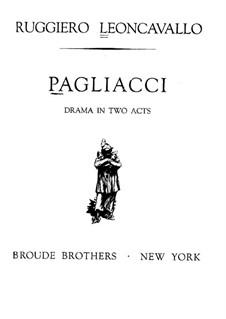 Pagliacci: Prologue by Ruggero Leoncavallo