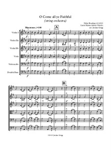 O Come, All Ye Faithful (Adeste Fideles): For string orchestra by John Reading