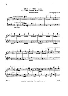 A Musical Snuffbox, Op.32: For piano by Anatoly Lyadov