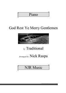 God Rest You Merry, Gentlemen, for Piano: For a single performer by folklore
