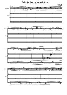 Xebec for Bass Clarinet and Organ, MVWV 816: Xebec for Bass Clarinet and Organ by Maurice Verheul