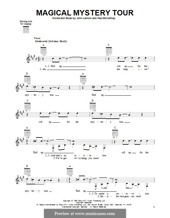 Magical Mystery Tour (The Beatles): For guitar with tab by John Lennon, Paul McCartney