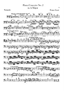 Piano Concerto No.2, S.125: Cello part by Franz Liszt