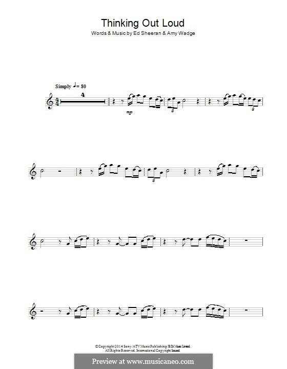 Thinking Out Loud: For alto saxophone by Ed Sheeran, Amy Wadge