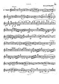 Grand Piano Trio No.1, Op.47: Violin part by Henry Litolff