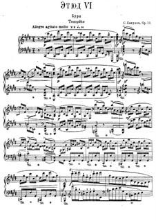 Twelve Transcendental Etudes, Op.11: No.6 Tempest by Sergei Lyapunov