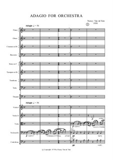 Adagio for Orchestra: Full score by Nancy Van de Vate
