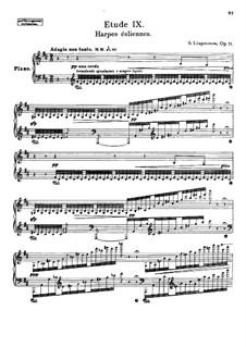 Twelve Transcendental Etudes, Op.11: No.9 Aeolian Harp by Sergei Lyapunov