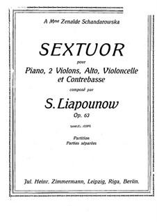 Piano Sextet, Op.63: Piano part by Sergei Lyapunov
