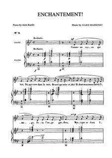 Enchantement: For medium voice and piano by Jules Massenet
