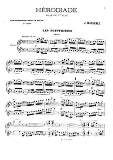 Hérodiade: Ballet to Act III. Arrangement for Piano Four Hands by Jules Massenet