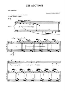 Les alcyons: For medium voice and piano by Jules Massenet