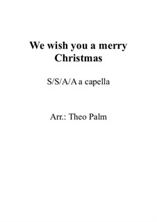 We Wish You a Merry Christmas: Vocal score by folklore