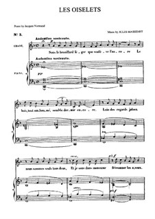 Les oiselets: For medium voice and piano by Jules Massenet