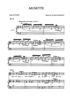 Musette: For medium voice and piano by Jules Massenet