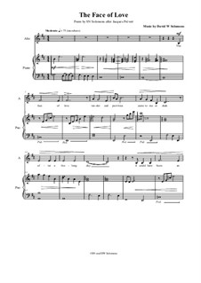 The face of love: For alto and piano by David W Solomons