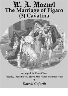 Cavatina: For flute choir 3 by Wolfgang Amadeus Mozart