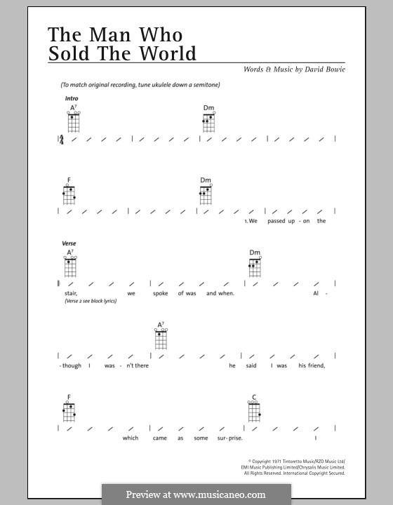 The Man Who Sold the World (Nirvana): For ukulele by David Bowie