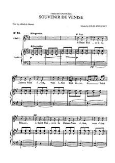 Souvenir de Venise: For medium voice and piano by Jules Massenet