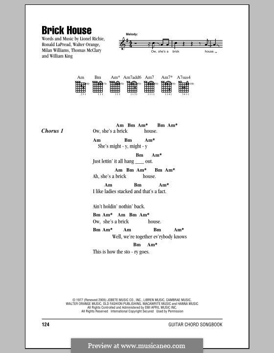 Brick House (The Commodores) by L. Richie, M. Williams, R. LaPread ...