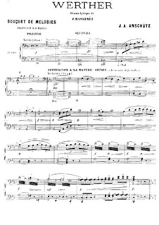 Werther: Selected Themes. Arrangement for piano four hands by Jules Massenet