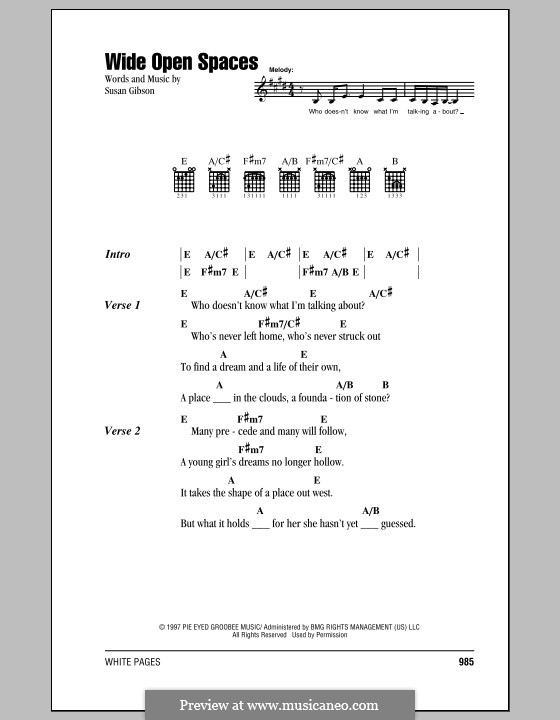 Wide Open Space (Mansun): Lyrics and chords by Paul Draper