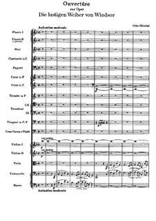 The Merry Wives of Windsor: Overture. Full score by Otto Nicolai